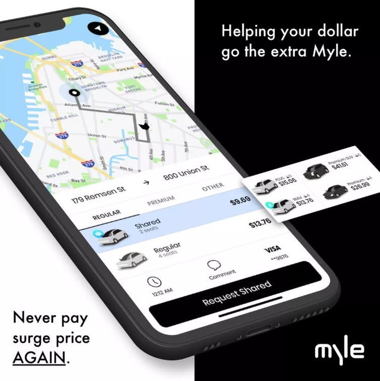 Ride-sharing app Myle claims users will never see surge pricing as with Uber and Lyft